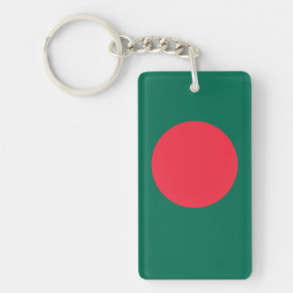 Bangladesh Double-Sided Rectangular Acrylic Keychain