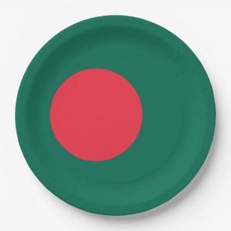 Bangladesh Flag 9 Inch Paper Plate