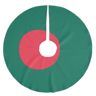 Bangladesh Flag Brushed Polyester Tree Skirt