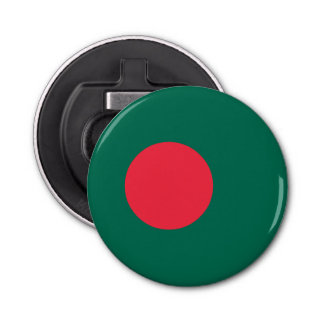 Bangladesh Flag Button Bottle Opener