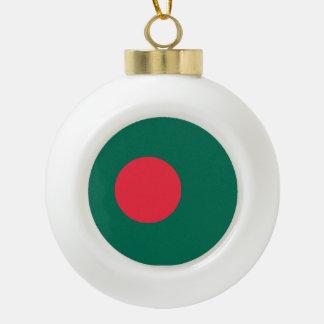 Bangladesh Flag Ceramic Ball Christmas Ornament