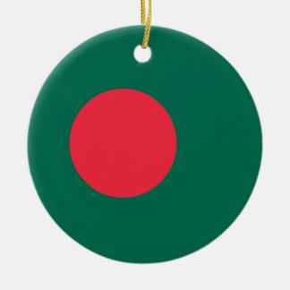 Bangladesh Flag Ceramic Ornament