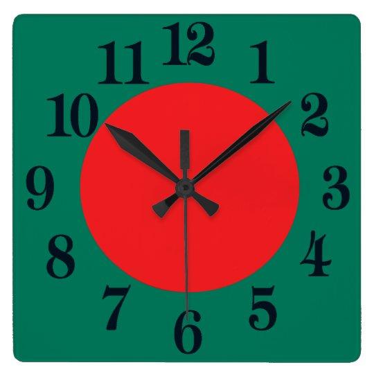 Bangladesh flag clocks