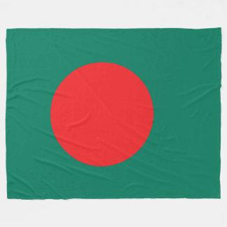 Bangladesh flag fleece blanket