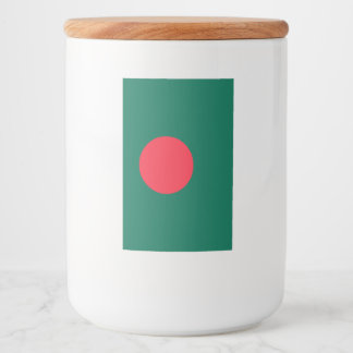 Bangladesh Flag Food Label