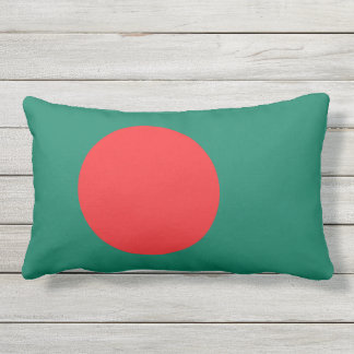 Bangladesh flag lumbar pillow