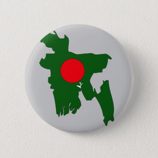 Bangladesh flag map 2 inch round button