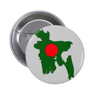 Bangladesh flag map 2 inch round button