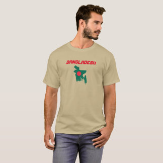 Bangladesh Flag Map Custom Shirt