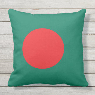 Bangladesh flag outdoor pillow