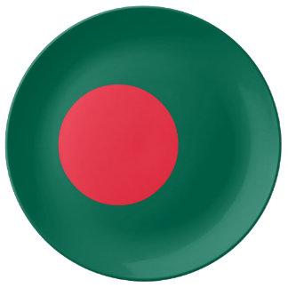 Bangladesh Flag Porcelain Plate