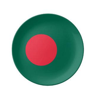 Bangladesh Flag Porcelain Plates