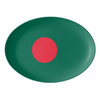 Bangladesh Flag Porcelain Serving Platter