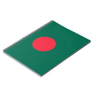 Bangladesh Flag Spiral Notebook