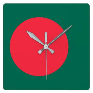 Bangladesh Flag Square Wall Clock