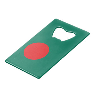Bangladesh flag wallet bottle opener