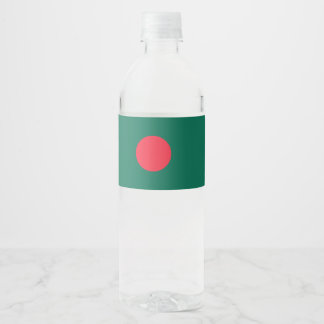 Bangladesh Flag Water Bottle Label