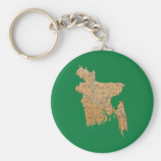Bangladesh Map Keychain