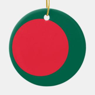 Bangladesh National World Flag Ceramic Ornament