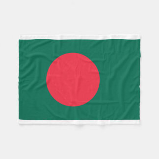 Bangladesh National World Flag Fleece Blanket