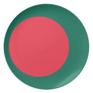 Bangladesh National World Flag Plate