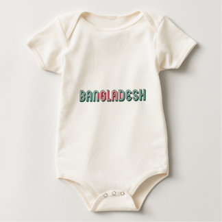 Bangladesh South Asia Typography Flag Colors Baby Bodysuit