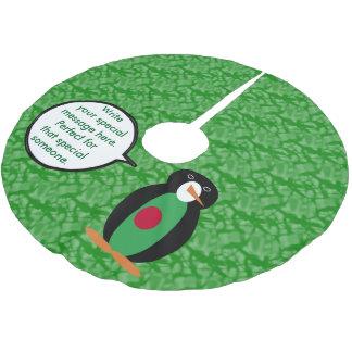 Bangladeshi Holiday Mr. Penguin Brushed Polyester Tree Skirt