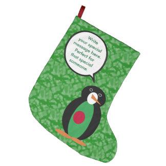 Bangladeshi Holiday Mr. Penguin Large Christmas Stocking
