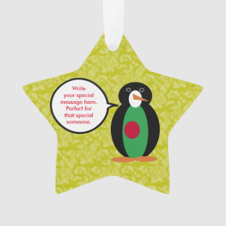 Bangladeshi Holiday Mr. Penguin Ornament