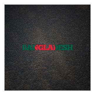 Bangladeshi name and flag perfect poster