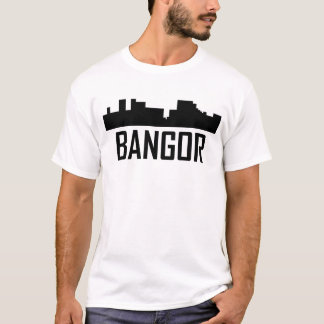 Bangor Maine City Skyline T-Shirt