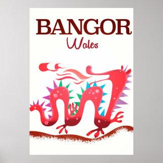 Bangor Wales Dragon poster