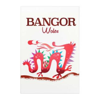 Bangor Wales Dragon poster Acrylic Print