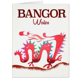 Bangor Wales Dragon poster Card