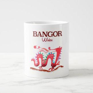 Bangor Wales Dragon poster Large Coffee Mug