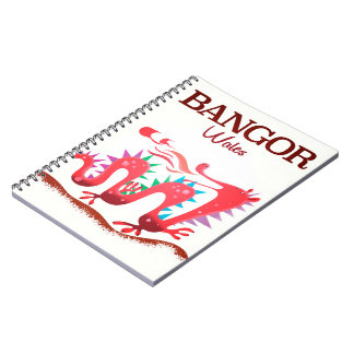 Bangor Wales Dragon poster Notebook