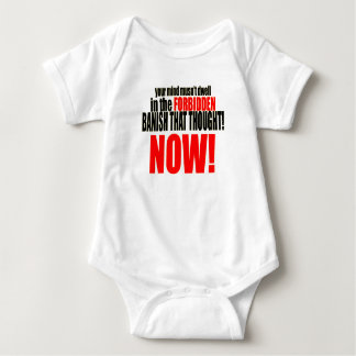 banish forbidden thought now musnt dwell relations baby bodysuit