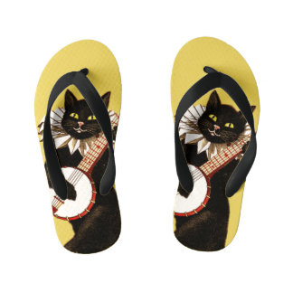 Banjo Cat Kid's Flip Flops