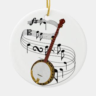 Banjo Ceramic Ornament