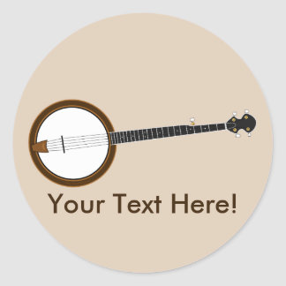 Banjo Classic Round Sticker