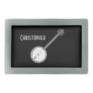 Banjo Design Just Add Name Rectangular Belt Buckles