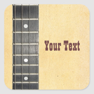 Banjo Fretboard Name Gift Tag Bookplate