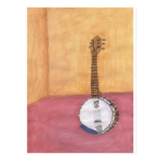 Banjo-in-a-room Postcard