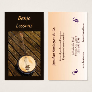 Banjo Lessons Business Card
