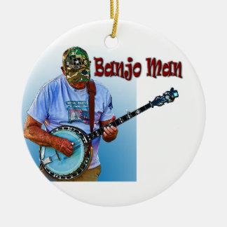 BANJO MAN CERAMIC ORNAMENT