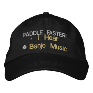 Banjo Music Embroidered Hat