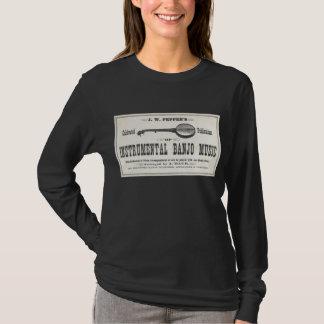 Banjo Music Ladies dark long sleeeve T-Shirt