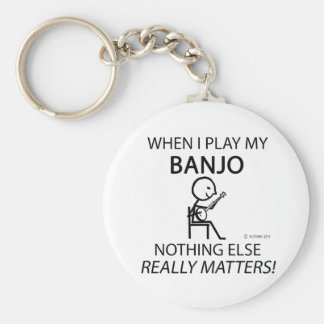 Banjo Nothing Else Matters Basic Round Button Keychain