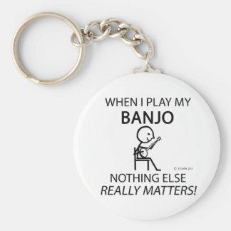 Banjo Nothing Else Matters Keychain