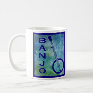 Banjo on Blue Coffee Mug